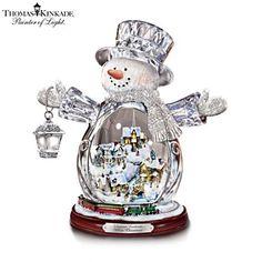 Thomas Kinkade White Christmas Masterpiece Edition Snowman