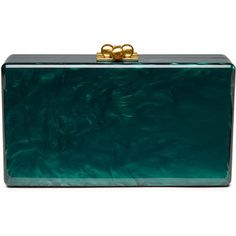 Edie Parker Jean Solid Acrylic Clutch Bag ($935) ❤ liked on Polyvore featuring bags, handbags, clutches, green, blue clutches, locking purse, green handbag, lucite purse and green clutches
