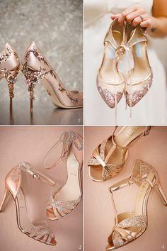 26 Stunning Rose Gold Bridal Apparel Ideas!