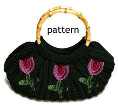 Crochet bag vintage style - crochet pattern