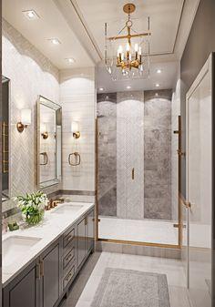 Modern Master Bathroom, Small Bathroom, Cozy Bathroom, Bathroom Ideas, Bathroom Designs, Bathroom Black, Transitional Bathroom, Modern Bathrooms, Master Bathrooms