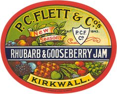 What an intriguing flavour combo! #vintage #jam #label