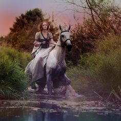I want that dress… and the horse… and the hair, too. -pinner  I agree. :)