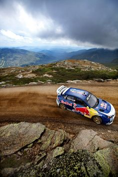 Subaru Rally runs on red bull