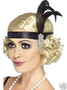 29 Black Razzle Style Charleston Women Adult Halloween Headband - One Size - 33484519 - - Invest in this black satin Charleston headband when you have a dilemma in styling your hair. This unique headband gives a stylish look to your face. Vestido Charleston, Charleston Dress, Flapper Headpiece, Gatsby Headband, Fascinator, Flapper Costume Diy, Costume Gatsby, Gatsby Fancy Dress, Gatsby Hair