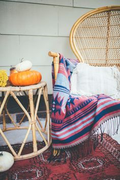 Thoughts from Alice: Fall Home Tour 2016 - Boho Eclectic Fall Patio