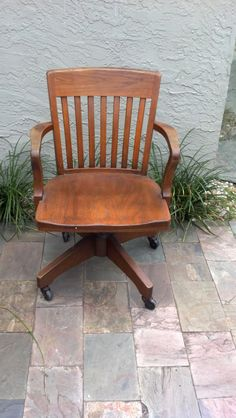 wood swivel desk chair salvaged one like this from dadu0027s garage cleaning it up for my space