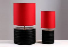 Repurposed vinyl records