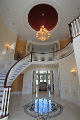 Brookville house. 7 finishes in one foyer.By Arlene Mcloughlin