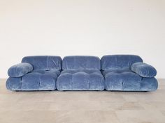 For Sale on - Mario Bellini designed this amazing modular sectional sofa for C&B Italia. These elements have been reupholstered in blue velvet. We have more original Furniture Logo, Furniture Decor, Furniture Design, Plywood Furniture, Chair Design, Painted Furniture, Modern Furniture, Furniture Market, Furniture Movers