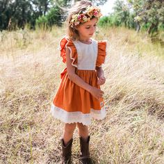 Inspired by the burnt rust color of cedar trees when fall arrives on our beautiful rivers and lakes here in the south. Burnt autumn cotton, natural linen, and c Kid Swag, Natural Linen, My Girl, Lace Dress, Autumn, Fall, Kids Fashion, Girl Outfits, Flower Girl Dresses