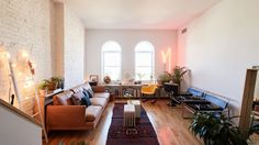 Inside Lot Architecture's Eleni Petaloti's Brooklyn Home: This Bushwick loft is shared by an interior designer and an architect, who've lived all over the world, are best friends with contemporary artists, and have designed their own furniture. Here's what happened when we visited the Greek designer to talk designing for clients versus for herself, how she makes it work living and working with her partner, and her secret Williamsburg spot for affordable vintage finds. | coveteur.com