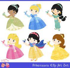 Princesses Clip Art Set Disney Princess BabiesDisney