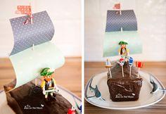 Tarta cumpleaños pirata