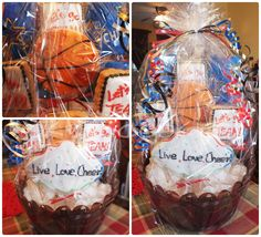 cheerleading sport cookie basket