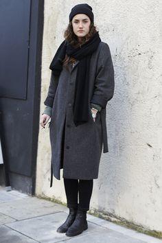 Hannah Williams Jacket: Cos | Pants: American Apparel | Shoes: Cos | Hat: American Apparel