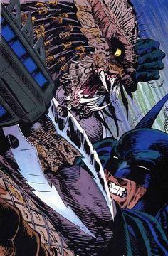 Batman vs Predator Art by John Byrne