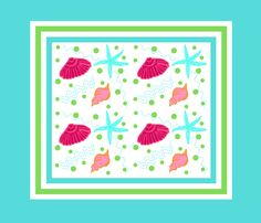 Shell play FQ42- blue berry lime punch fabric by drapestudio on Spoonflower - custom fabric
