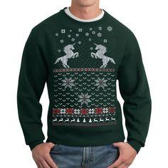 eu.Fab.com | Sweatshirt Unicorn Grün