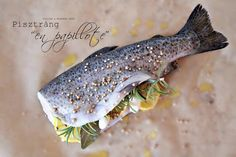 Pisztráng papírban sütve Fish, Meat, Pisces