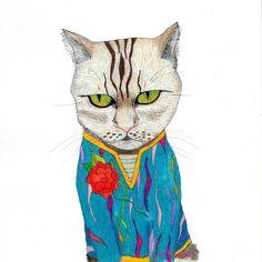Don't put me sweater on face. #yukamila #illustrationoftheday #illustration #drawing #artwork #art #instaart #cat #pattern