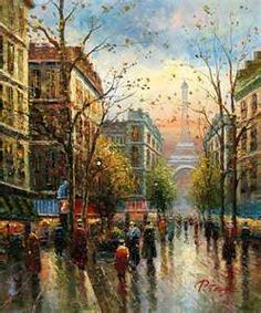 Unknown Artist Paris Eiffel Tower art Painting