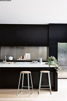 Dark kitchens you'll love via sheerluxe.com
