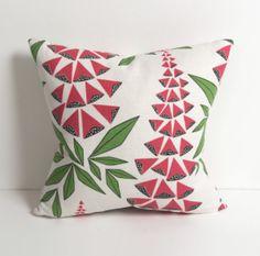 MissPrint Foxglove Garden cushion.
