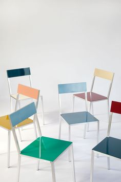 mullervanseveren_chair Fien Muller and Hannes Van Severen's latest work introduces us to the magical combination of high gloss paint and aluminum.
