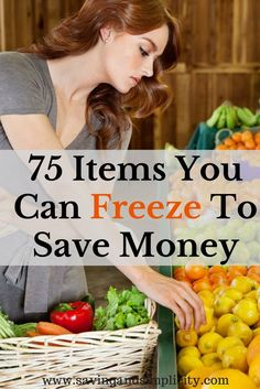Have you ever wondered what food items you can freeze? More than you think. Learn 75 items you can freeze to save money. Number 33 & 75 surprised me.