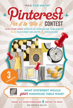 What statement does YOUR dream table make? | Pin it to Win it Contest with @MADHOUSE  | #MADforHWTM #contest #PintoWin