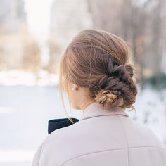 So in love with my hair done by the @tresemme team  Pulled back, double fishtail braid, crossed over twice and pinned into a bun! #tresmbfw #hairselfie #braids #fishtailbraid #nyfw