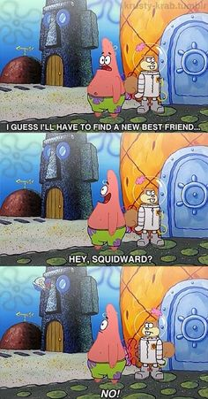 "patrick:when he get:s back i don""t know hahahahahahahahahahaahaha!!"