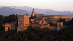 The beautiful Alhambra sunset in Granada, Spain