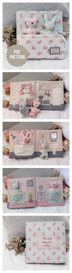 Baby Storybook / Quiet Book / Activity Book Pattern by Dow .- Baby Storybook / Quiet Book / Activity Book Pattern by Down Grapevine Lane, # BabyTreeBook - Sewing Toys, Baby Sewing, Sewing Crafts, Sewing Projects, Fabric Crafts, Felt Books, Quiet Books, Baby Story Books, Baby Kind