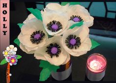 how to make paper flowers : Easy Anemone