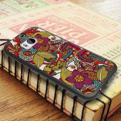 Floral Art Colorful HTC One M8 Case