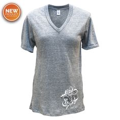 Ladies Eco-Jersey V-Neck Trident T-Shirt - UDT-SEAL Store  - 1