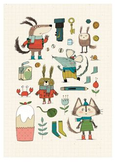 cute illustration style by Kate Hindley
