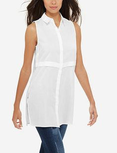 b414146cdc2 Sleeveless Cotton Tunic Shirt Tunic Shirt