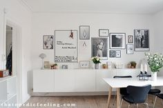 I promised you pictures of my new picture wall – so here we go! After shuffling prints around for the...