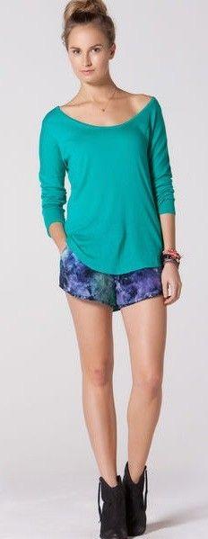 C & C California Dolman Shirt Tail Sweater Curved Hem Style