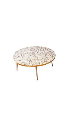 Classic Mid Century Tile Mosaic Top Oval Coffee Table