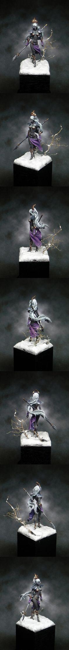 CoolMiniOrNot - Luaayne the Drow Sorceress by Samuedio