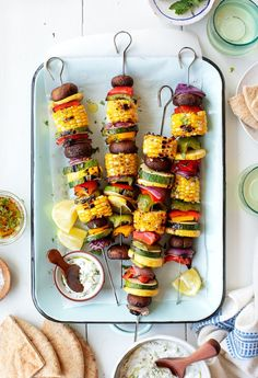 Grilled Vegetables Recipe - Love and Lemons Learn how to make the best grilled vegetables with this easy kabob recipe! Serve them as a simple, flavor-packed cookout side, or top them with a yummy sauce and make them a meal on their own. Grilled Vegetable Kabobs, Best Grilled Vegetables, Grilled Vegetable Recipes, Veggie Kabobs, Broccoli Recipes, Turkey Recipes, Beef Recipes, Kabob Recipes, Grilling Recipes