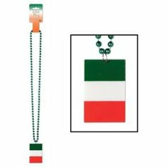 Beads w/Printed Irish Flag Medallion Party Accessory (1 count) (1/Card) Unknown. $1.79. Due to hygiene-related concerns, this item is non-refundable.. Design is stylish and innovative. Satisfaction Ensured.. One per package.. Size: 36.. Great Gift Idea.