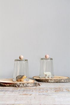 Vintage Handmade Glass Winter Scene Display  /  Polar Bear, Display Dome, Terrarium. $29.00, via Etsy.