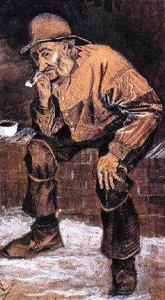Vincent Van Gogh - Post Impressionism - La Haye - Vieux Pêcheur