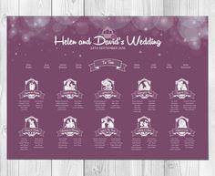 Disney inspired enchanted fairytale table plan