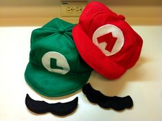 Mario & Luigi Hats And Mustaches-HOW TO
